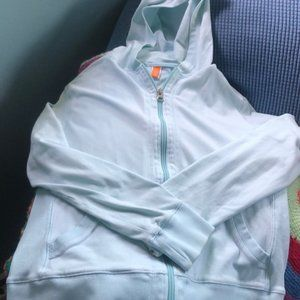 Lucy Pale Mint Green Zip Up Hooded Jacket